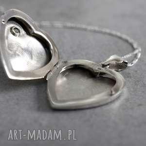 ręczne wykonanie naszyjniki serce 925 - srebrny medalion