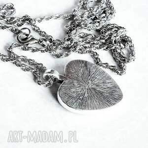 srebrne naszyjniki serca serce witrażowe- :: naszyjnik