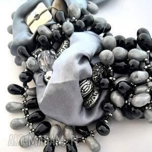 naszyjniki naszyjnik shades of grey handmade