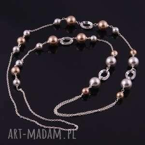 ręczne wykonanie naszyjniki długi shine, elegancki naszyjnik z pereł