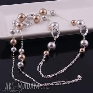 hand-made naszyjniki naszyjnik shine, elegancki z pereł