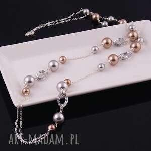 ręczne wykonanie naszyjniki naszyjnik shine, elegancki z pereł
