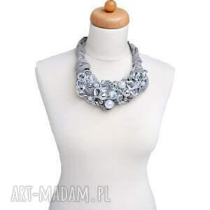 szare naszyjniki silver chains naszyjnik handmade