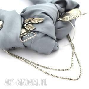 niesztampowe naszyjniki naszyjnik silver rocket handmade