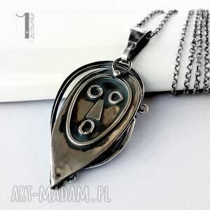 miechunka wyjątkowe naszyjniki maska siyah srebrny naszyjnik