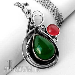 srebro naszyjniki zielone sour pear srebrny naszyjnik