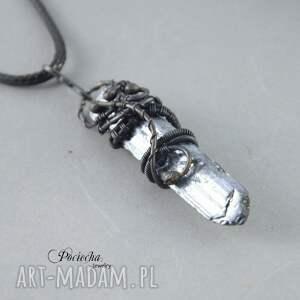 brązowe naszyjniki miedź space crystal- naszyjnik