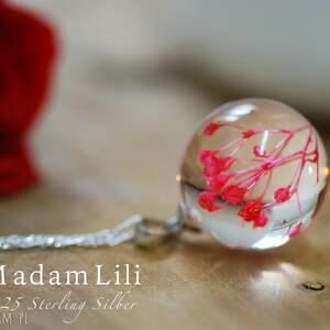 czerwone naszyjniki biżuteria 925 srebrny łańcuszek z prawdziwymi