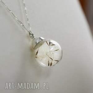 ręcznie zrobione naszyjniki dmuchawiec 925 srebrny łańcuszek z dmuchawcami