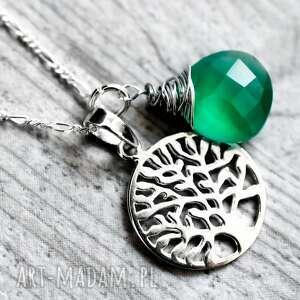 drzewo naszyjniki 925 srebrny łańcuszek życia