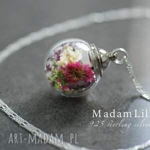 unikalne naszyjniki kwiaty 925 srebrny łańcuszek - bukiet
