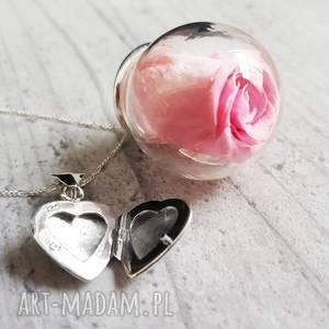 srebrne naszyjniki róża 925 srebrny łańcuszek wraz