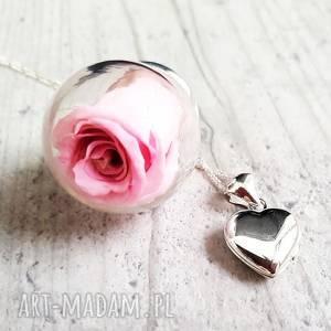 eleganckie naszyjniki róża 925 srebrny łańcuszek wraz