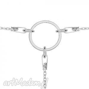 trendy naszyjniki modny srebrny łańcuszkowy choker z kłem