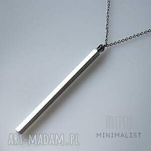 MITSU naszyjniki minimalizm srebrny monolit