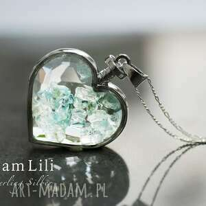 handmade naszyjniki aquamarine 925 srebrny naszyjnik