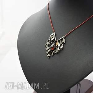 oryginalne naszyjniki granat srebrny naszyjnik opleciony