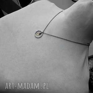 kobiecy naszyjniki srebrny naszyjnik z cytrynem