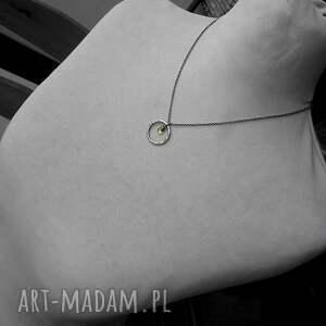 kółko naszyjniki srebrny naszyjnik z peridotem- do