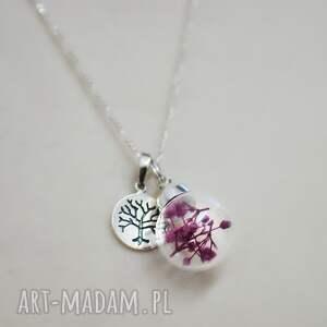 gustowne naszyjniki kulka 925 srebrny naszyjnik z kwiatami