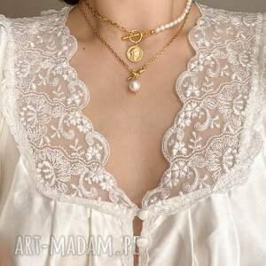 naszyjniki łańcuch srebrny naszyjnik z pereł