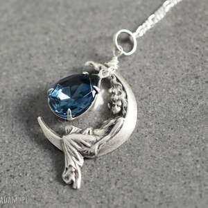 srebrne naszyjniki wróżka 925 srebrny naszyjnik księżycowa