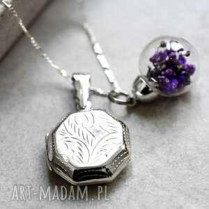 ręcznie wykonane naszyjniki medalin 925 srebrny naszyjnik z suszonymi
