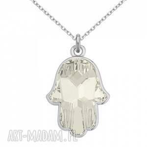 naszyjniki modny srebrny naszyjnik z kryształową