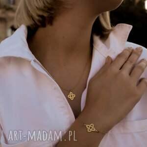 hand-made naszyjniki rozeta srebrny naszyjnik z ażurową rozetką