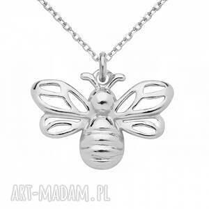 nietypowe naszyjniki srebro srebrny naszyjnik z pszczółką