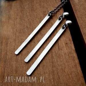naszyjniki geometryczny srebrny naszyjnik z soplekiem