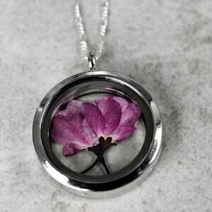 autorskie naszyjniki wiśnia 925 srebrny naszyjnik sakura