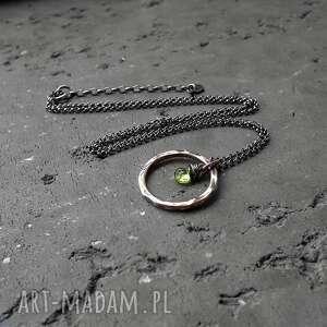 zielone naszyjniki z-peridotem srebrny naszyjnik z peridotem - do
