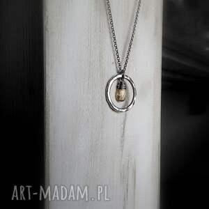 naszyjniki z kółkiem srebrny naszyjnik z cytrynem