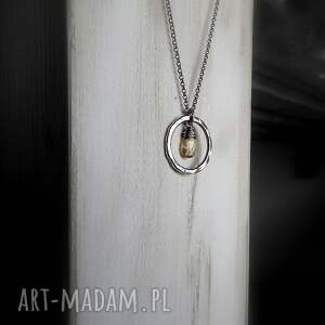 naszyjniki z-kółkiem srebrny naszyjnik z cytrynem-do