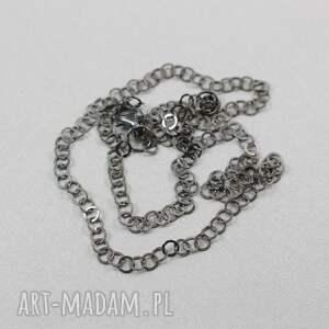 ciekawe naszyjniki oksydowany srebrny łańcuszek