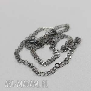 łańcuszek naszyjniki szare srebrny oksydowany