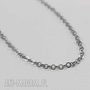 czarne naszyjniki srebro srebrny oksydowany łańcuszek