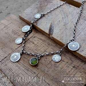unikatowe naszyjniki personalizowana-biżuteria srebro 925 - naszyjnik z monetami