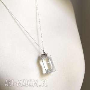 srebrne naszyjniki szkło srebro 925 ♥ dmuchawiec naszyjnik