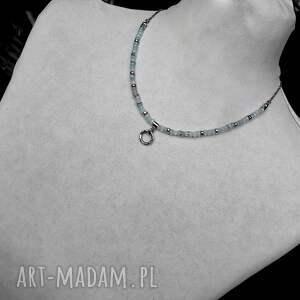 naszyjniki błekitny srebro i akwamaryn - naszyjnik