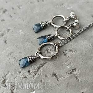 krótki-naszyjnik naszyjniki srebro i kianit - naszyjnik