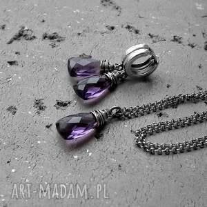 naszyjniki ultra-violet srebro i kwarc fioletowy