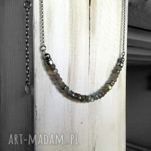 naszyjniki modny srebro i labradoryt - krótki
