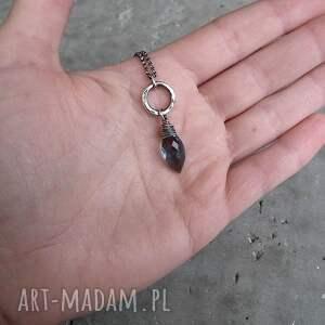 z-kamieniem naszyjniki srebro i markiza kwarcu - granatowy