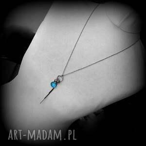 niesztampowe naszyjniki prezent-dla-niej srebro, kwarc swiss blue - długi