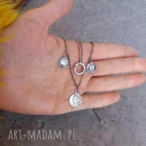 ręczne wykonanie naszyjniki zawieszki srebro - naszyjnik boho
