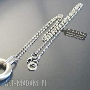 niekonwencjonalne naszyjniki koło srebro, wisior