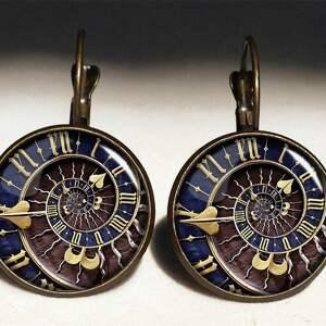 steampunk naszyjniki beżowe - duży medalion