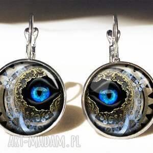 naszyjniki oko steampunk - sekretnik z łańcuszkiem
